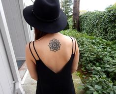 Minimal Mandala Tattoo On Back   http://tattooideas22.com/minimal-mandala-tattoo-on-back/