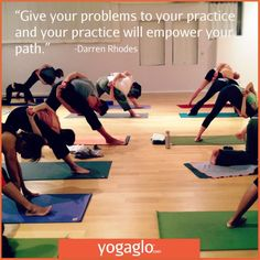 """""""Give your problems to your practice (Your run, your walk, your workout JB) and your practice will empower your path"""" ~ Darren Rhodes Meditation Quotes, Yoga Quotes, Yoga Meditation, My Yoga, Yoga Flow, Yoga For Mental Health, Yoga Words, Beginning Yoga, Photography Words"""