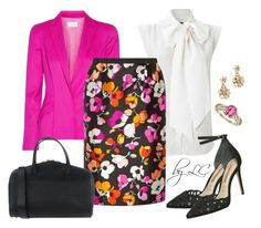 """""""pink spring"""" by explorer-14541556185 ❤ liked on Polyvore featuring French Connection, Thierry Mugler, Oscar de la Renta, Valextra and BillyTheTree"""