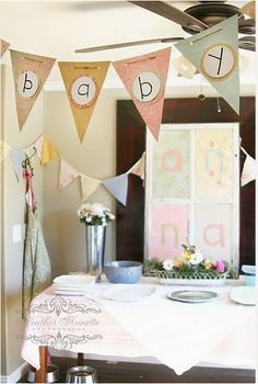 """""""Baby"""" banner for clothesline"""