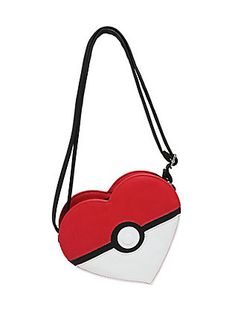 Loungefly Pokemon Poke Ball Heart Crossbody Bag 132ed6874d868