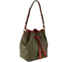I am OBSESSED with this style of handbag...the hot look for fall! I ordered it in olive but make no promises that more colors won't move in to my closet! Dooney & Bourke Kendall Pebbled Leather Large Drawstring Bag