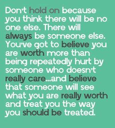 You are worth more...