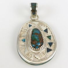 Bisbee Turquoise Pendant By Michael Perry - Garland's Indian Jewelry