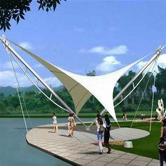 Tensile fabric Membrane Structures in delhi Fabric Structure, Shade Structure, Tent Design, Roof Design, Concept Models Architecture, Architecture Details, Membrane Structure, Tensile Structures, Pergola