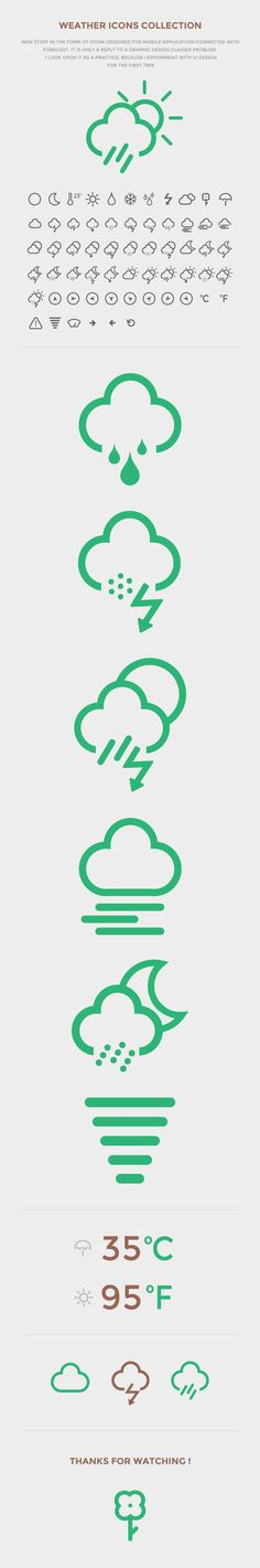 Weather Icon Set 2013 by Maciej Tomczyk, via Behance App Ui Design, Icon Design, Ui Design Inspiration, Design Ideas, Cloud Illustration, Organization Bullet Journal, Mobile Icon, Weather Icons, Ui Patterns