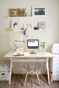 white office space.