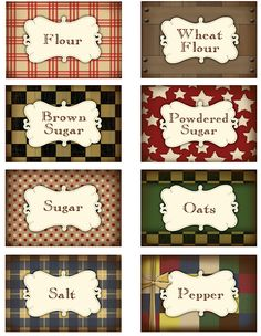 Darling Doodles printable pantry labels