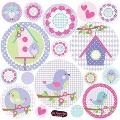 Kit De Vinilo Autoadhesivo Pajaritos Diy And Crafts, Crafts For Kids, Paper Crafts, Decoupage, Bird Birthday Parties, Bird Party, Bird Theme, Clipart, Scrapbook Paper