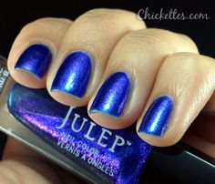 Julep nail polish, color: Ivy (royal blue duochrome with purple shimmer) 2012