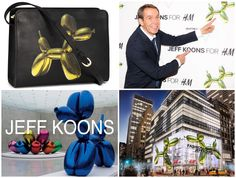 H&M hearts Jeff Koons' art. (http://www.apparelnews.net/news/2014/jul/18/art-meet-fashion-hm/) #HM #5thAvenue #Art #Celebration #JeffKoons #Jeff #Koons #Collaboration #Clothing #Accessories #Purses #Clothes #Apparel #News
