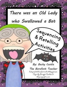 There was an Old Lady who Swallowed a Bat sequencing/retelling cards