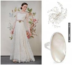 vintage bridal lookbook with Claire Pettibone / | VIA #WEDDINGPINS.NET