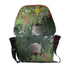 Honey #Bee Habitat Messenger #Bag http://www.zazzle.com/MarshaIsArt*  #spring  #honey bees