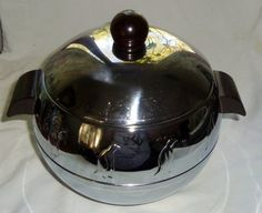"""Vintage """"Penguin"""" server - keeps food hot or cold.  Had one just like this only in a copper color."""