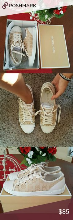 Just for today! $80 Michael Kors Sneakers. 100% Authentic Michael Kors Sneakers. Brand new / Never worn. Perfect Condition. They fit true to size. Size 9.5. Price is firm. Please ask before buying, I'm more than happy to help you! Thank you!  Michael Kors Shoes Sneakers