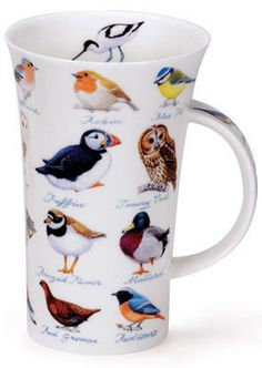 Dunoon - Fine Bone China Mugs - Glencoe Shape : Birds