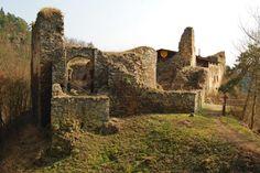 Castle Krašov above Berounka river - Middle Bohemian Region