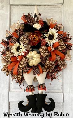 Leopard Print Halloween Witch Wreath, Halloween Wreath, Witch Wreath, Fall Wreath, Halloween Decor, Witch Decor, Halloween Party Halloween Witch Wreath, Halloween Magic, Halloween Party, Halloween 2020, Skeleton Decorations, Halloween Decorations, Deco Mesh Wreaths, Fall Wreaths, Wreath Making Supplies
