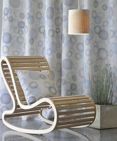 The Rings Sheer Collection designed by leading New Zealand designer, David Trubridge, printed and manufactured on natural fibres, available through Hemptech. Soft Furnishings, Floor Chair, Drapery Fabric, Chair, Furnishings, Interior, Mural, Home Decor, Furniture Design
