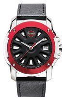 Harley-Davidson® Men's Bulova Wrist Watch. Black Dial. Luminous Hands. Calendar. Leather Strap. 78B119 Bulova. Save 71 Off!. $49.99. Stainless steel case; Red anodized aluminum top ring. Screw back. Luminous hands. Black leather strap with red side walls; WR50m/165ft. Charcoal gray-black dial with spoke design. Charcoal gray and black dial with spoke design. Luminous hands. Stainless steel case. Red anodized aluminum top ring. Screw back. Black leather strap with red side ...