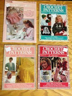 4 Vintage Crochet Pattern Booklets  Afghans by KoopsKountryKalico, $4.99