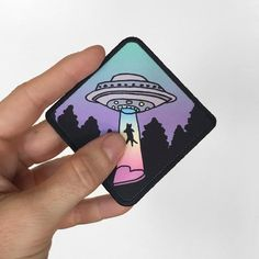 "UFO Cat Abduction Printed Patch• super cute patches for UFO & kitty lovers• design by me based of my t-shirt design• patch for shirts, backpacks, hats, jackets, beanies...• NOT embroidered, this is DTG printed by me• patch size 3.5"" x 3.5"" / 9cm x 9cm• ships in 1-3 working days♥ This is the original UFO CAT I drew and designed for my shirts and patches ♥ It's only available on l415andco.com and EspiLane on Etsy ♥ Don't be fooled by people & scam sites stealing my work & photos ♥IMPORTANT…"