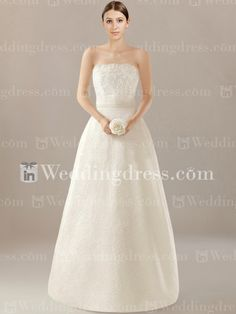 Modern Strapless Lace Bridal Gown DE093