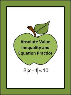 Solving and graphing absolute value inequalities can be a challenging concept for algebra students to understand. Use these materials to make it easier for them and for you! CCSS.MATH.CONTENT.HSA.REI