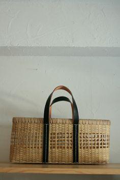 Raffia & leather bag.