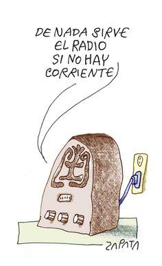 Radio. Caricatura de Zapata en la página de Opinión. Caracas, 20-02-2012 (PEDRO LEON ZAPATA / EL NACIONAL)