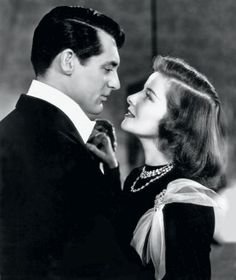 Cary Grant & Katharine Hepburn in Holiday Best Love Story Movies, Best Love Stories, Love Movie, Great Movies, Movies About Love, Katharine Hepburn, Golden Age Of Hollywood, Classic Hollywood, Outfits