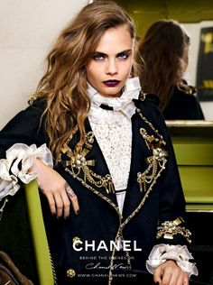 Cara Delevingne by Karl Lagerfeld for Chanel pre-fall 2015