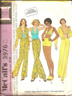 Vintage McCalls Sewing Pattern 3976 Misses and by TenderLane, $7.00=McCalls was always a good choice!