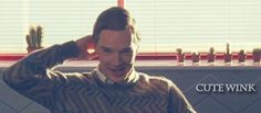 """""""(gif) Benedict, why are you so freaking cute?!?!?! UGH!!!"""" - haha."""