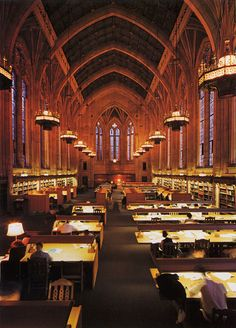 The Graduate Reading Room of Suzzallo Library, University of Washington, Seattle.