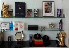 Comedy glasses a mystery box two golden Gnomes & more: A look at Klopp's Liverpool office shelf