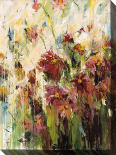 Bring nature indoors with this lovely canvas art floral arrangement by Karen Silve.  Gallery wrapped and suitable for any room, the colorful limited edition abstract comes with a certificate of authenticity and a hanging wire for easy mounting.