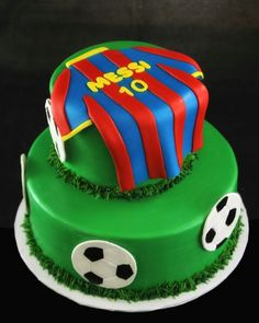 One-of-a-kind custom wedding cakes, birthdays cakes, corporate cakes or any celebration. Butterfly Bakeshop Custom Cakes in New York. Messi Birthday, Soccer Birthday Parties, Birthday Cake, Soccer Party, Fondant Cakes, Cupcake Cakes, Barcelona Cake, How To Make Cupcakes, Making Cupcakes