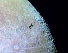 The ISS only passed over the moon for 0.33 seconds