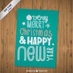 Cmyk Grunge Christmas Card Free Vector