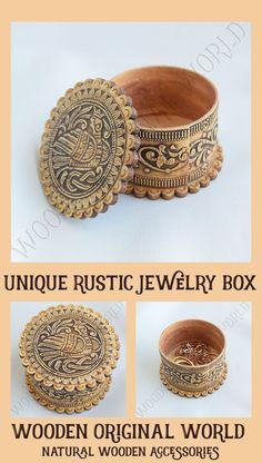 Ecofriendly unique wooden small proposal ring box #wooden  #rusticwedding  #veganlife