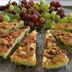 Quiche and grapes from Friday's BFF lunch.