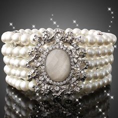 Shipped from USA Beautiful Pearl Bracelet by TheLittleHatterbox, $25.00