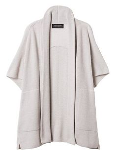 Todd & Duncan Cashmere Open-Front Poncho