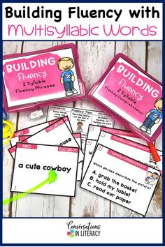Multisyllabic word activities are great for word work, small group, RTI,