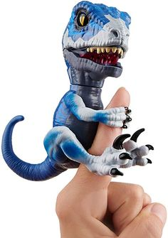 WowWee Untamed Raptor - Series by Fingerlings - Frostbite (Dark Blue) - Interactive Collectible Dinosaur Cute Animal Memes, Cute Animals, Black Panther Party, Tyrannosaurus, 5 Year Olds, Dinosaur Toys, Dark Blue, Amazon, Christmas 2019