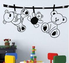 Hola amigos. Os presentamos un original perchero infantil de 4 pomos. Lo encontraréis disponible en variedad de medidas y colores. Esperamos os guste. https://www.vinilosinfantiles.com/perchero-infantil-ositos-en-la-cuerda-v3893