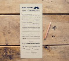 Found on Weddingbee.com Share your inspiration today!- mad lib guest book