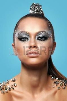 Glitter Makeup, Glam Makeup, Party Makeup, Makeup Art, Makeup Eyeshadow, Lego Film, Tie Fighter, Masquerade Mask Makeup, Futuristic Makeup